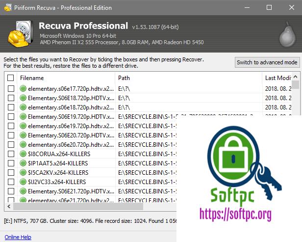 Piriform Recuva Professional Torrent with Crack Keys for all Versions