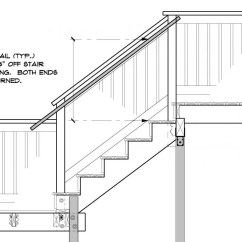 Stair Railing Parts Diagram Fisher Snow Plow Minute Mount Wiring Outside Deck Handrails To Latest Code General