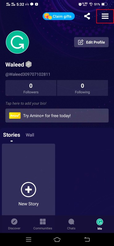 Delete Amino Account 2