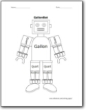 Gallon Man Coloring Pages