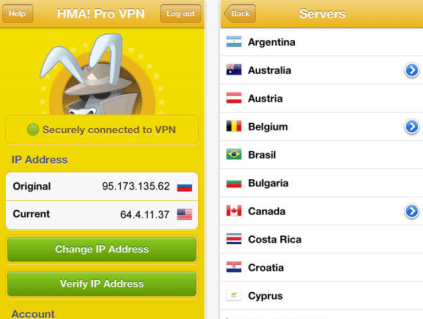 HMA Pro VPN USername password