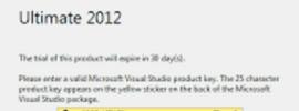 Visual studio 2012 Product Key