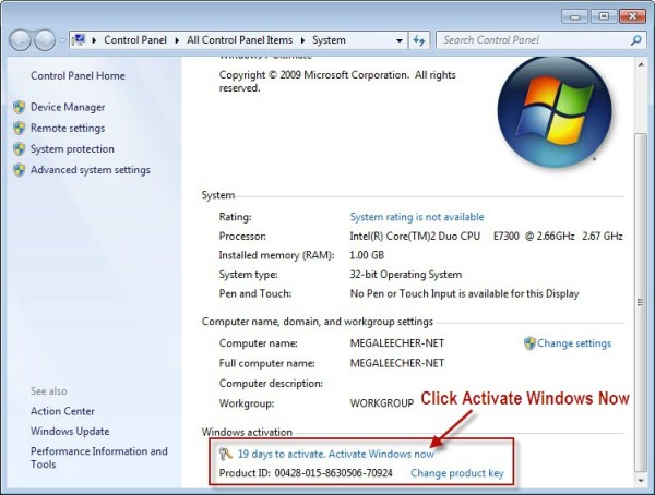 windows 7 os with product key