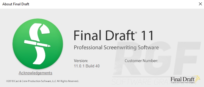 Final draft 11.0.1 build 40 crack + serial key 2019 free download