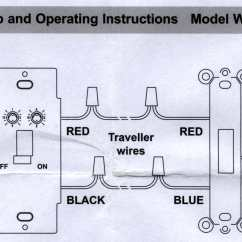 Two Way Wiring Diagram Desk Fan Motor Using A 3 X10 Wall Switch As 2 The