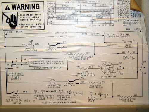 small resolution of kenmore clothes dryer 110 96282100 wiring diagram