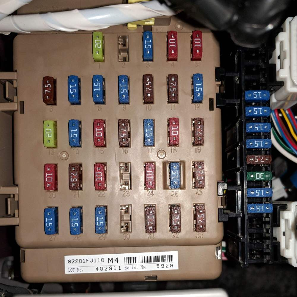 medium resolution of subaru forester fuse box