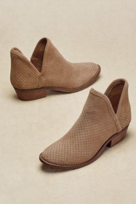 Lucky Brand Kambry Booties Suede Booties Perforated
