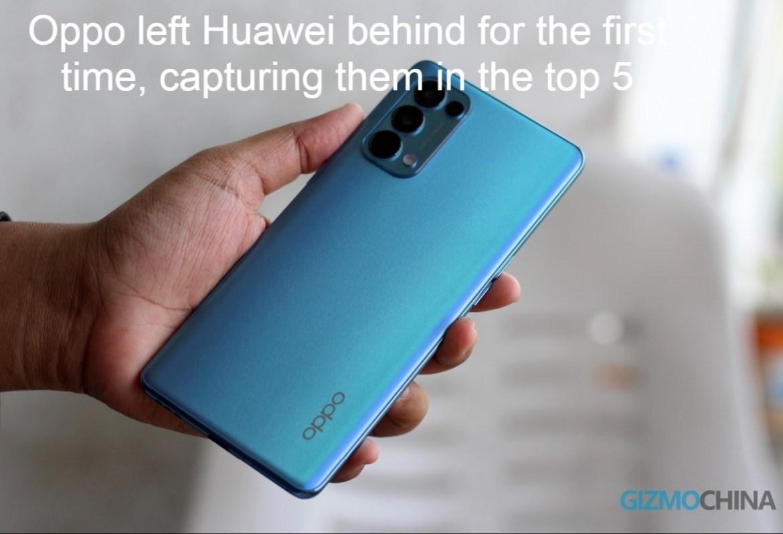 Oppo left Huawei