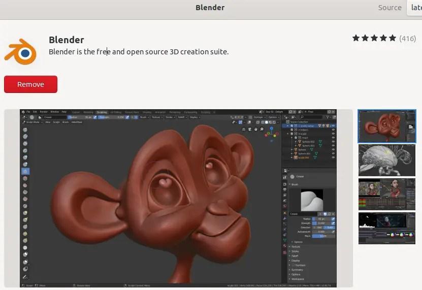 Install Blender Ubuntu