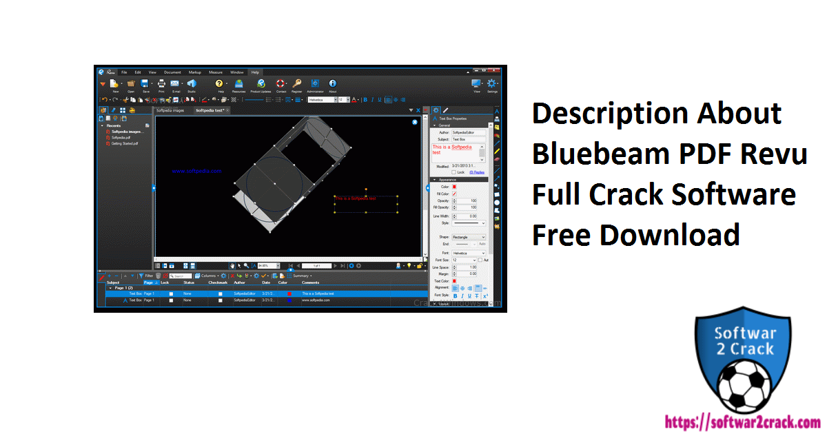 Description About Bluebeam PDF Revu Full Crack Software Free Download