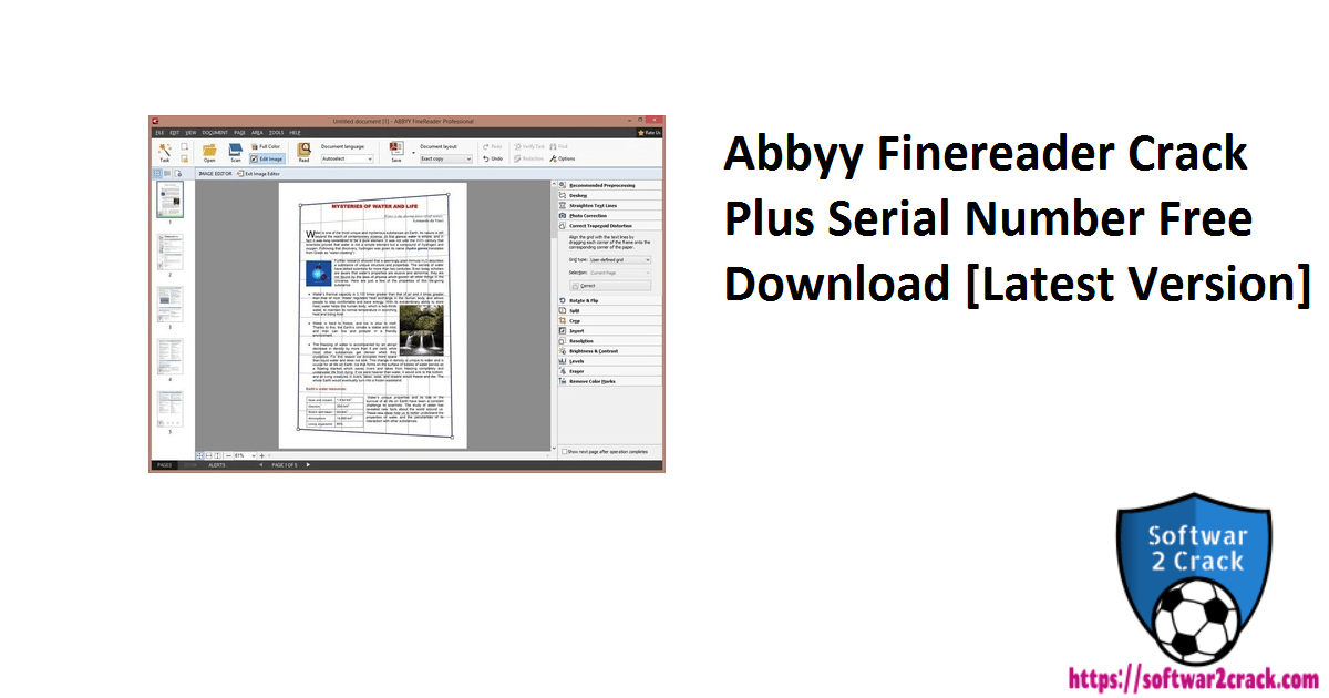 Abbyy Finereader Crack Plus Serial Number Free Download [Latest Version]