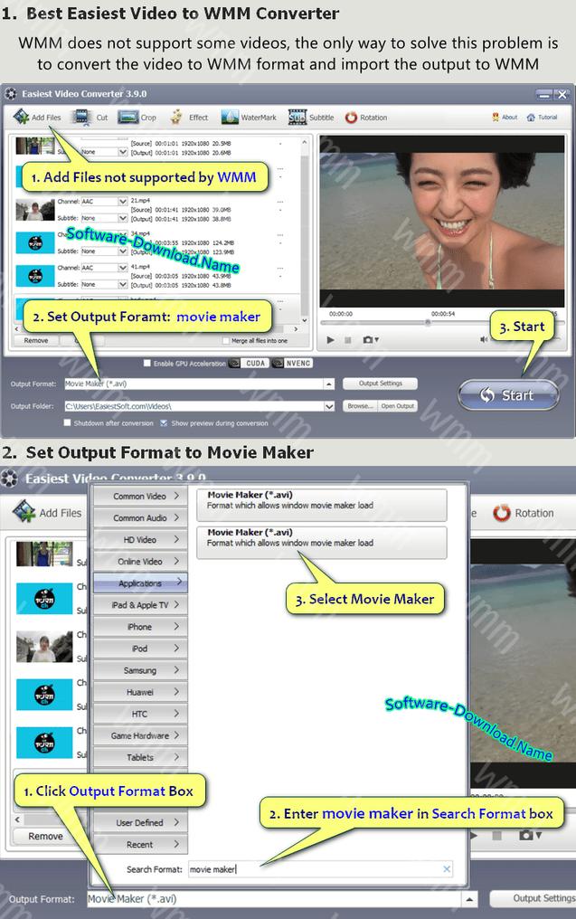 Download Windows 10 Video to Windows Movie Maker Converter - Easiest Video Editor Converter