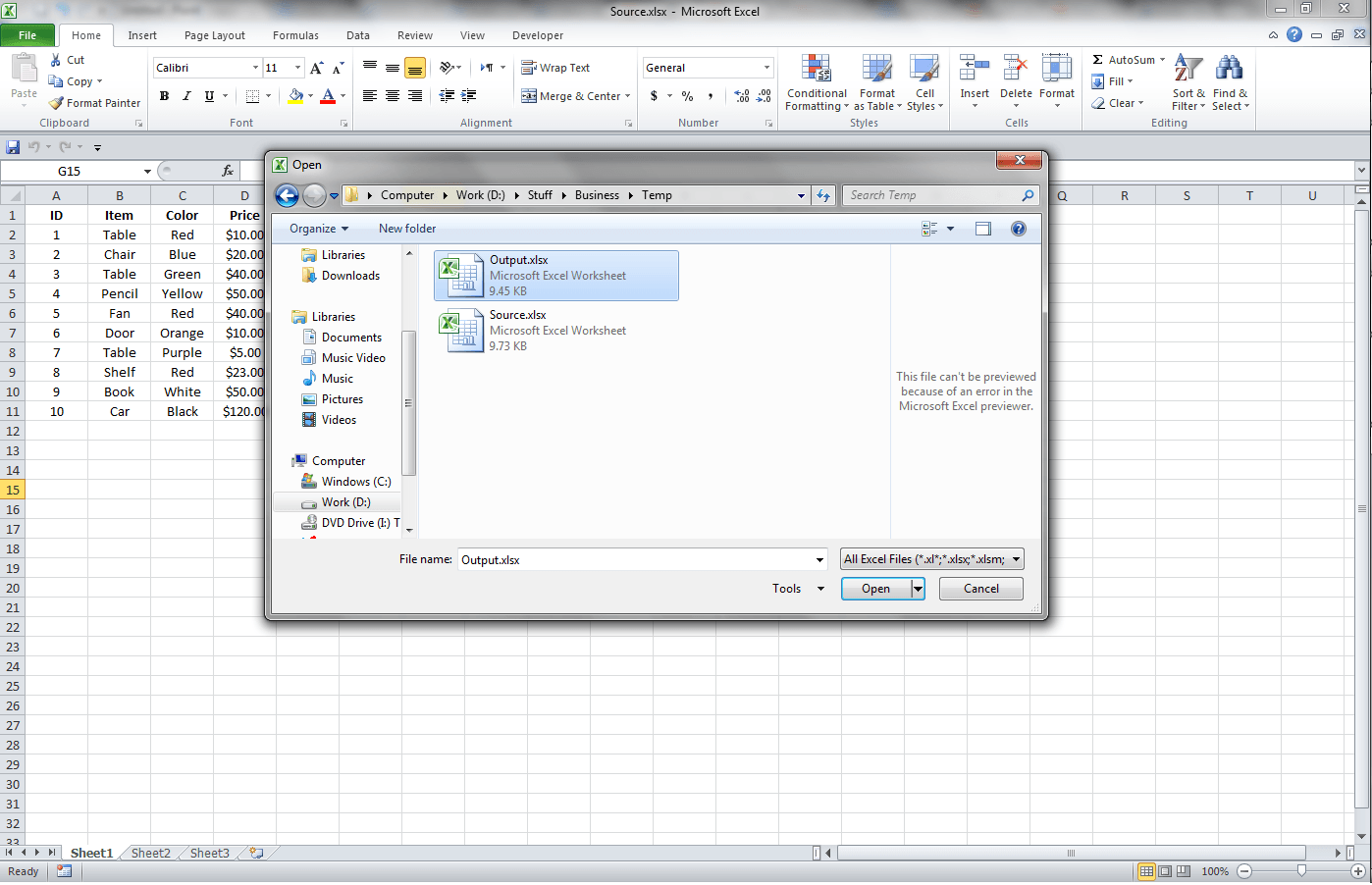Excel, Getting Data From Another Workbook Through Links