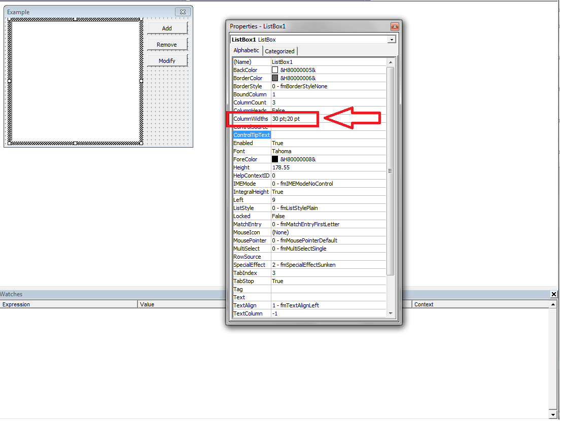 Vba Multi Column Listboxes