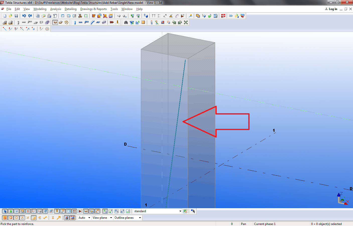 Tekla Structures Add Single Rebar