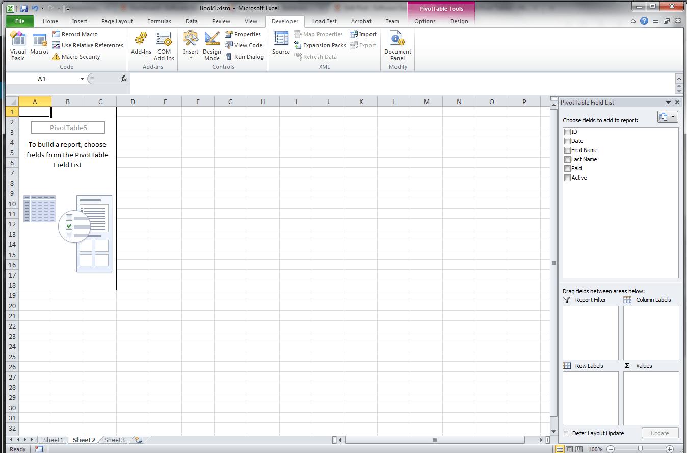 Excel Vba Pivot Tables