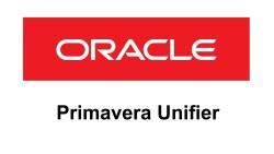 Oracle Primavera Unifier