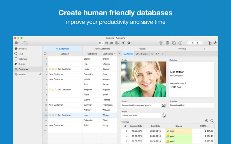 database software for mac. Ninox Database Software For Mac
