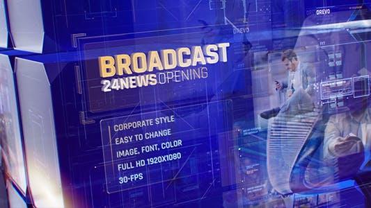 Broadcast 24 News Opening