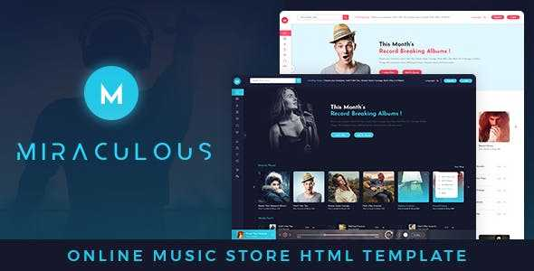music HTML template