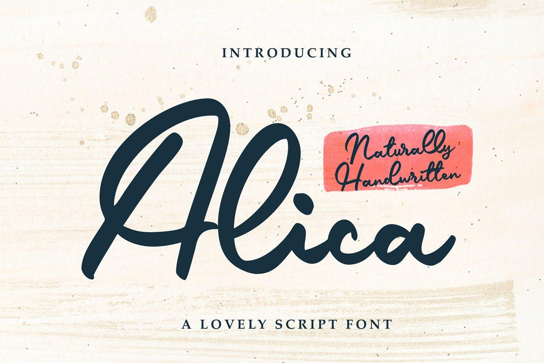 Alica - Script Font