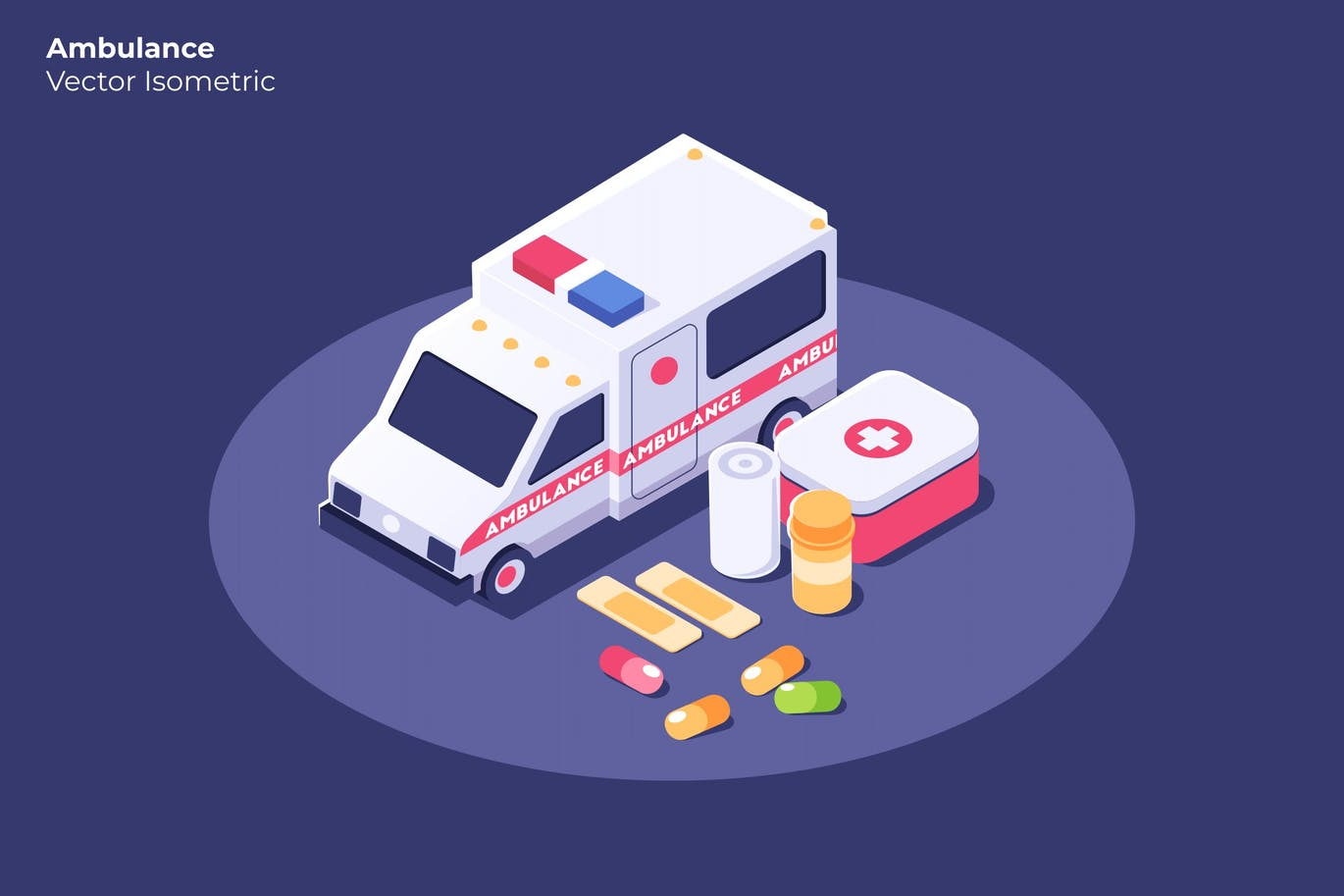 Ambulance - Vector Illustration