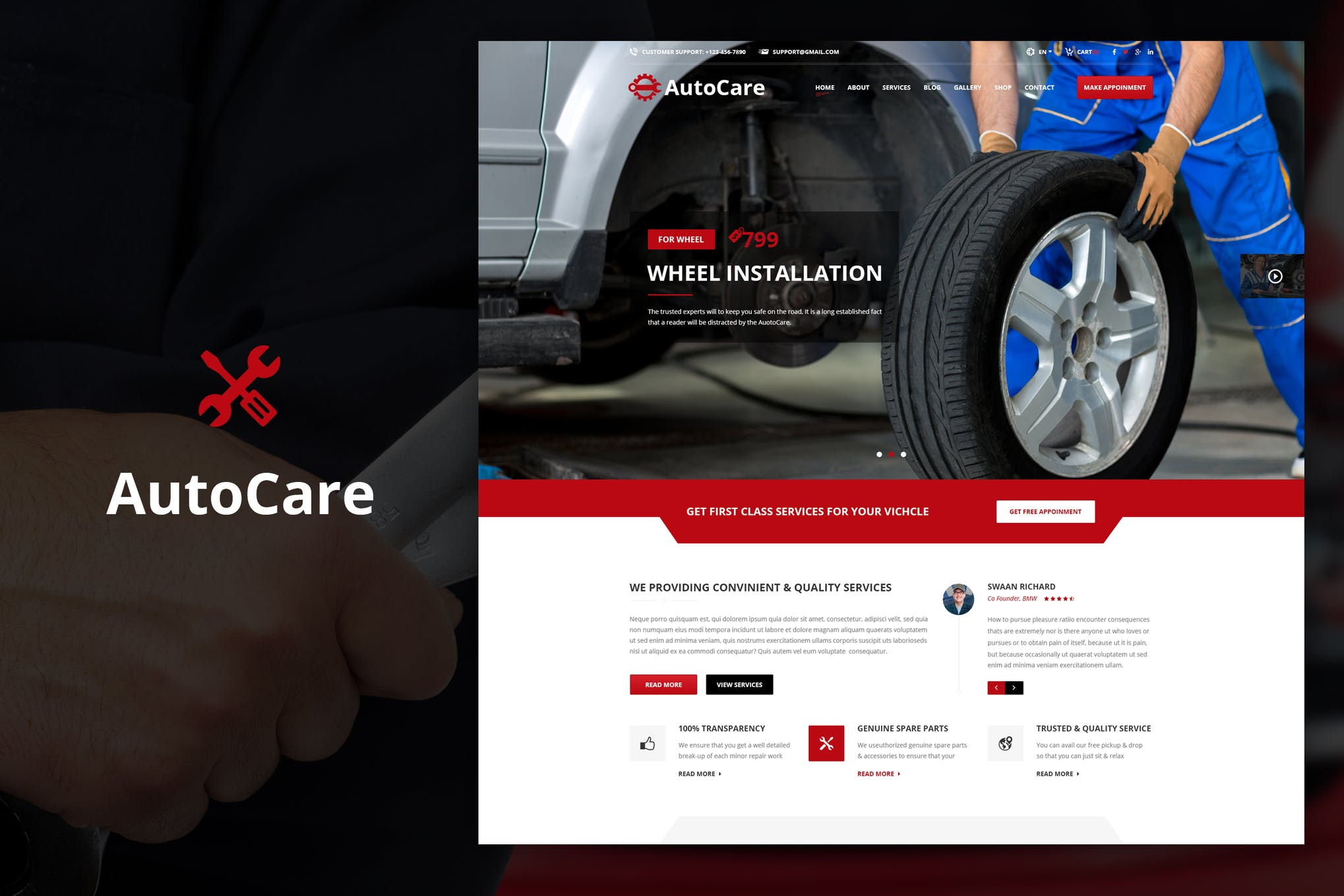 Auto Care - Drupal Theme for Car Mechanic