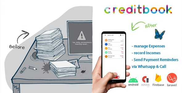 CreditBook - Start Online Credit Android App - Android app