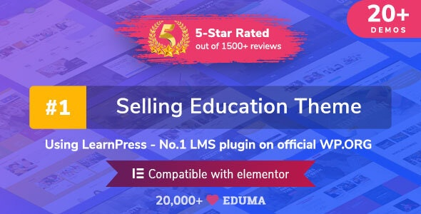 Eduma v4.2.5 NULLED - WordPress Education Theme Template