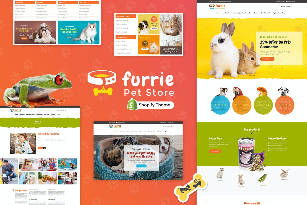 Furrie Shopify Pet Store, Animal Care Services