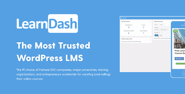 LearnDash LMS WordPress Plugin + All Addons 2020 - (LMS) for WordPress
