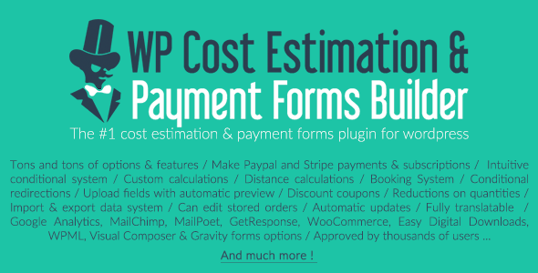 WP Cost Estimation & Payment Forms Builder - WordPress Price Calculator