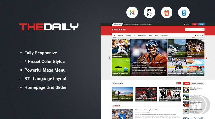 template sports portal for Joomla