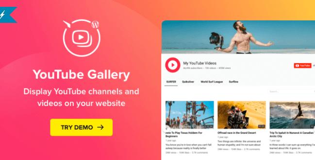 YouTube Plugin – WordPress YouTube Gallery