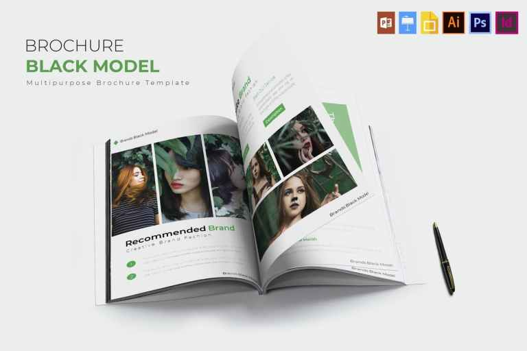 Black Model - Brochure Template