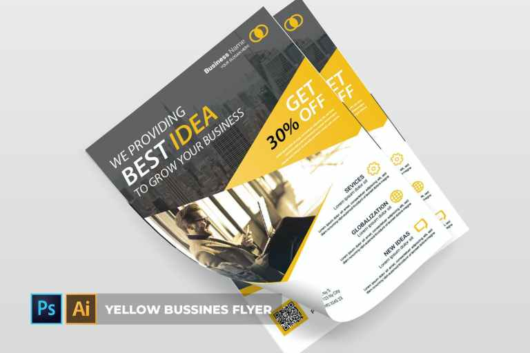 Yellow business - Flyer