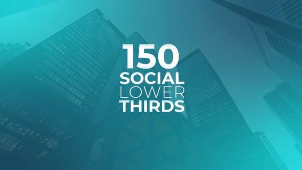 150 Social Media Lower Thirds