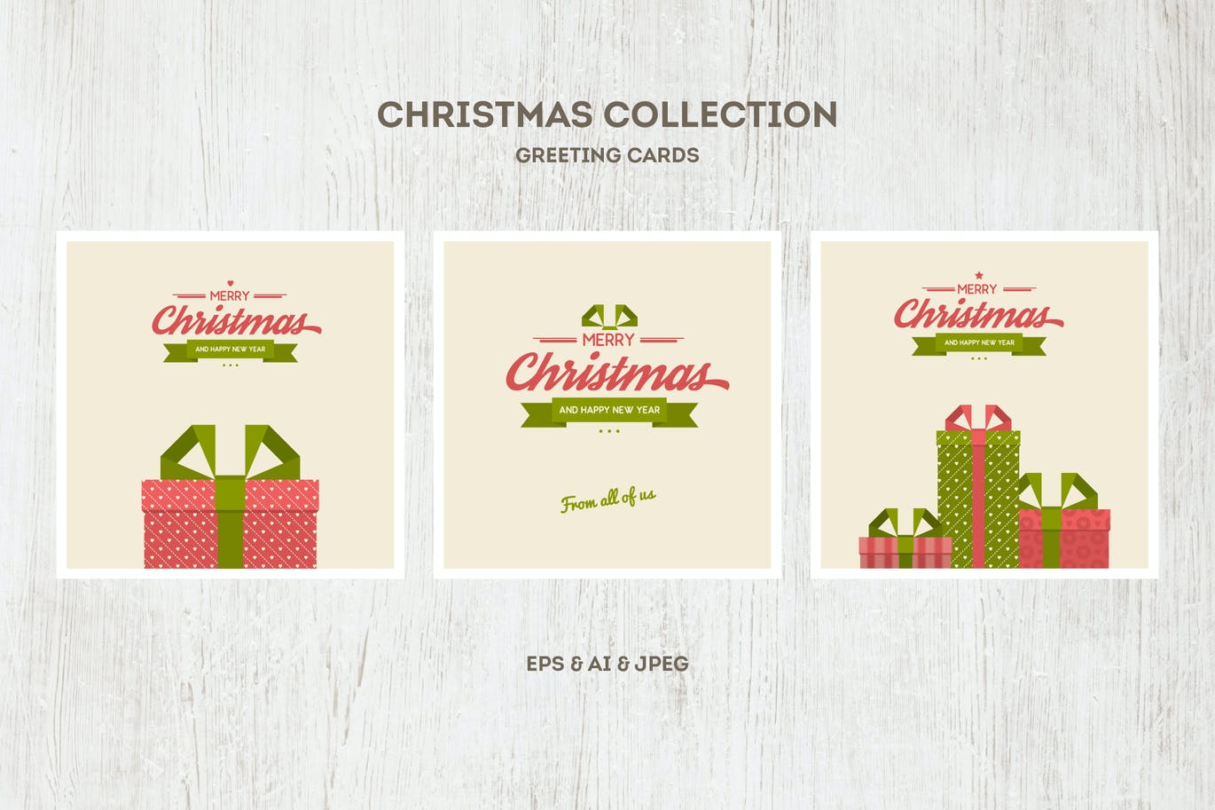 Christmas Cards Vector Collection