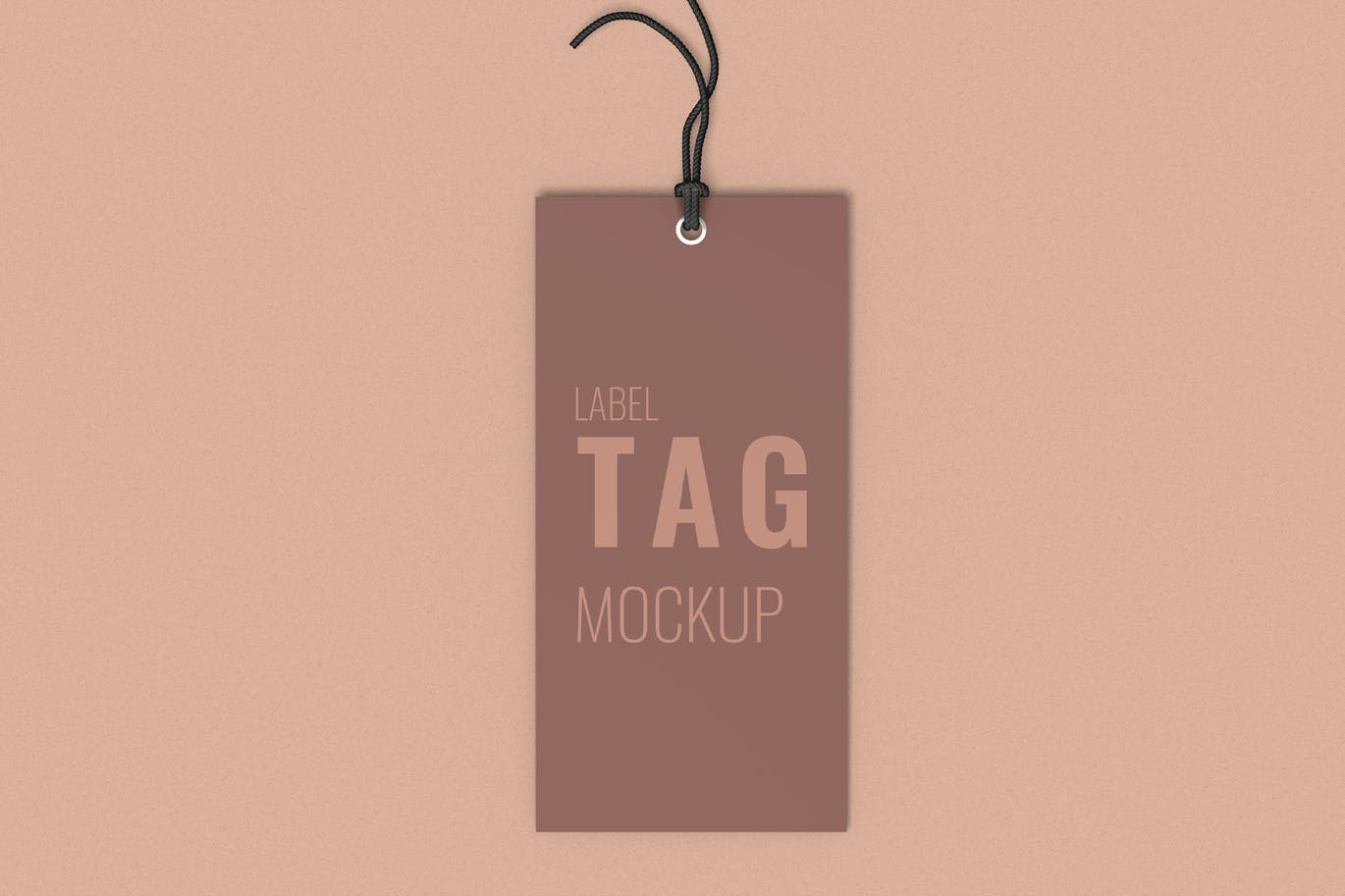 Clothes Label Tag Mockup Top Angle View