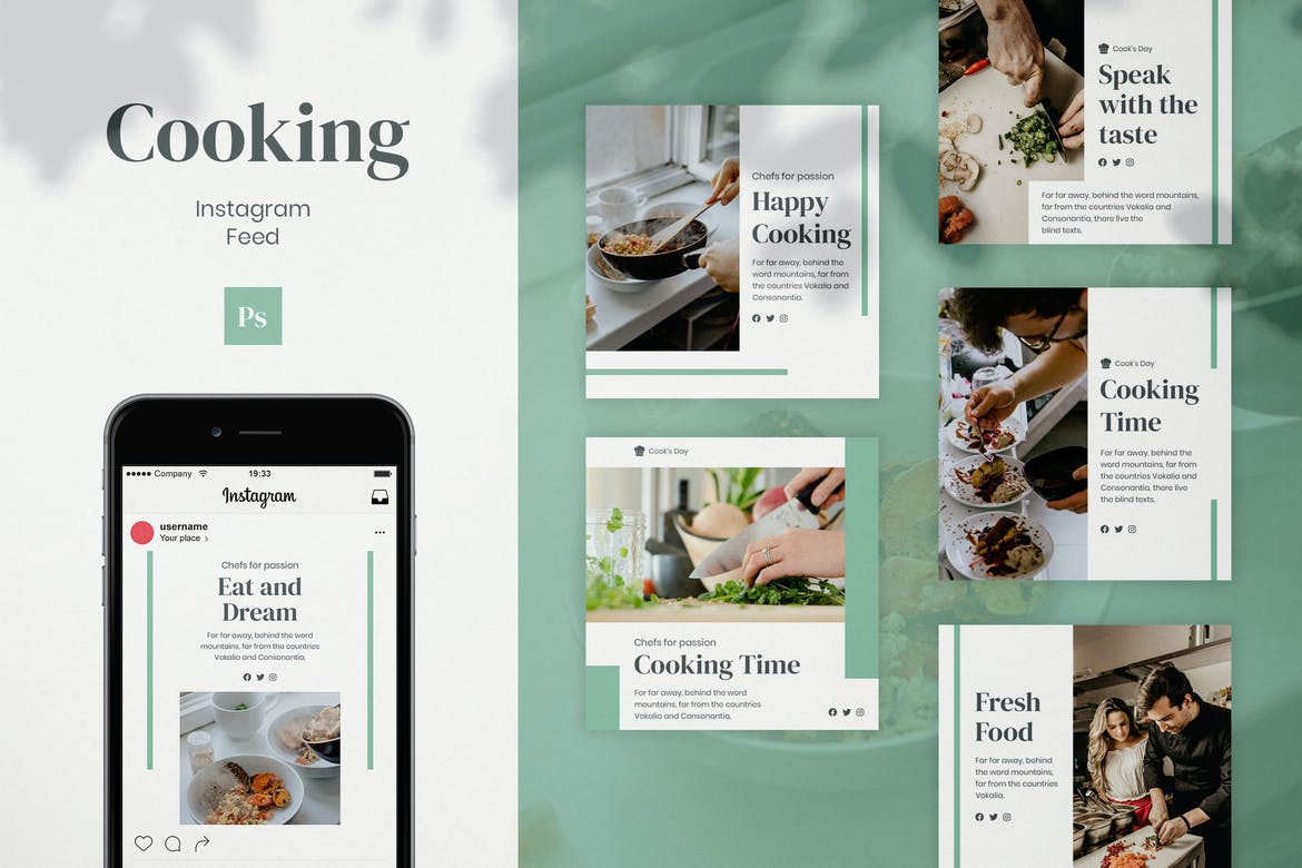 Cooking Instagram Feed Post Template