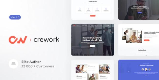 Crework v1.1.4 - Coworking WordPress Theme