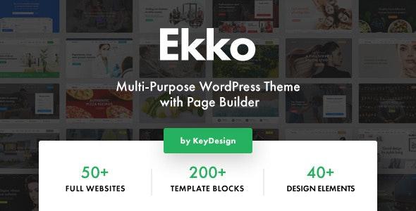 Ekko v1.8 - Multipurpose WordPress Theme with Page Designer