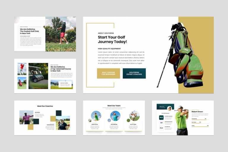 Golf Club & Resort Presentation Keynote Template