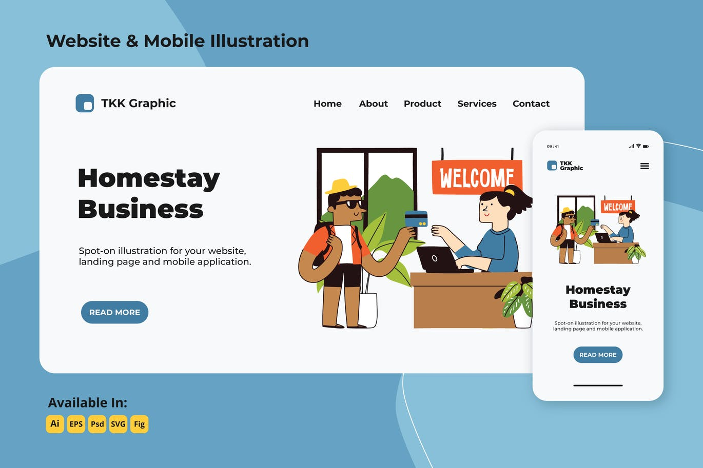 Homestay reservation web and mobile