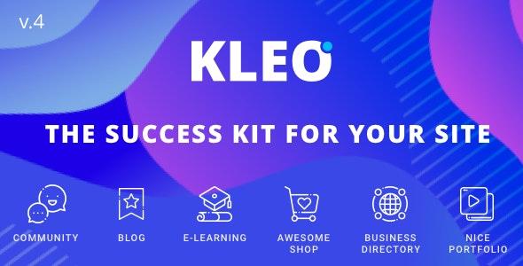 KLEO v4.9.90 NULLED - Multipurpose BuddyPress Theme