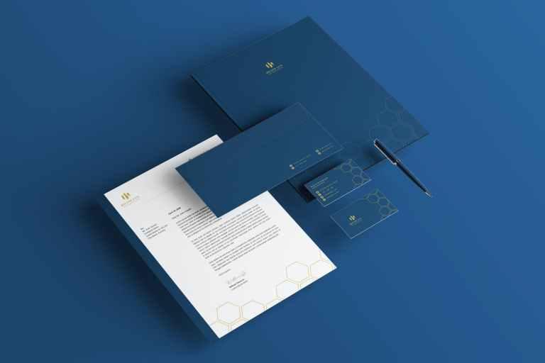 Luxury Blue Branding Identity & Stationery Pack