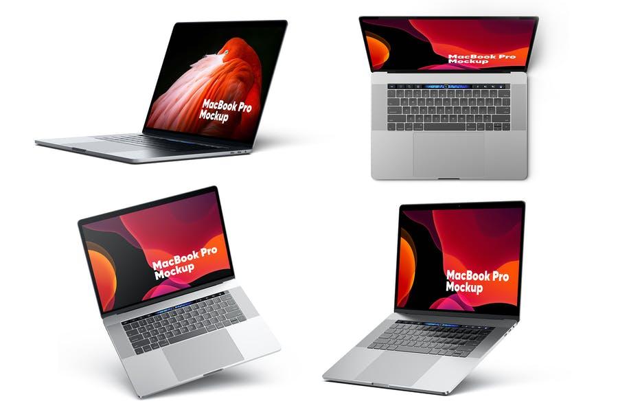 MacBook Pro Mockups Set