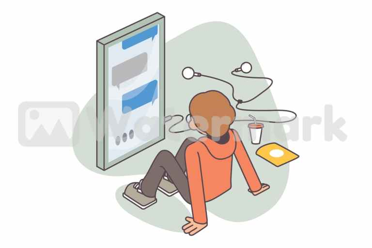 Man waiting for message