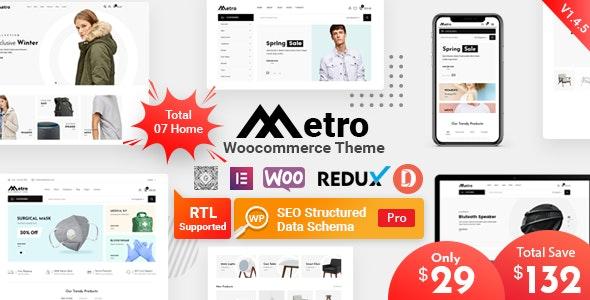 Metro v1.4.4 - Minimal WordPress Theme for WooCommerce